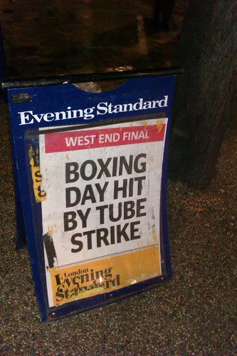 Boxing Day Tube Strike - Evening Standard Billboard