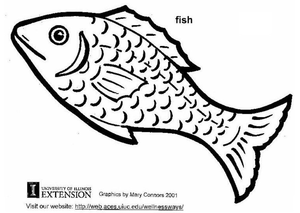 Pescado Para Colorear Free Images At Clkercom Vector Clip Art