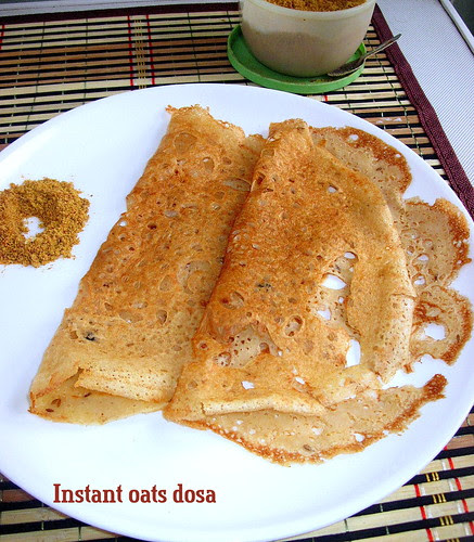 instant oats dosa 1