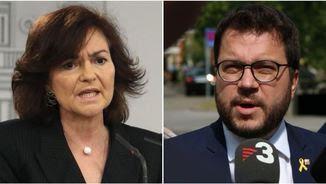 Carmen Calvo i Pere Aragonès es reuniran demà passat a Madrid (EFE/ACN)