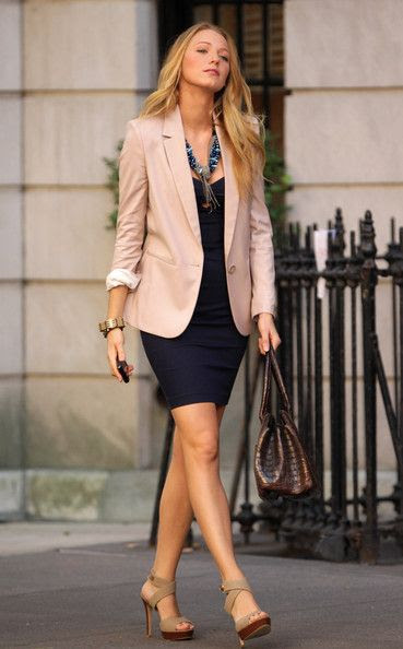 This blazer will go great with the dress that I bought today