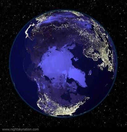 http://www.nightskynation.com/pics/earth-at-night-north-pole.jpg