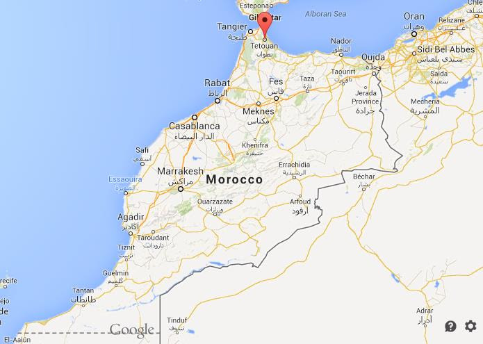 Where is Tetouan on map of Morocco