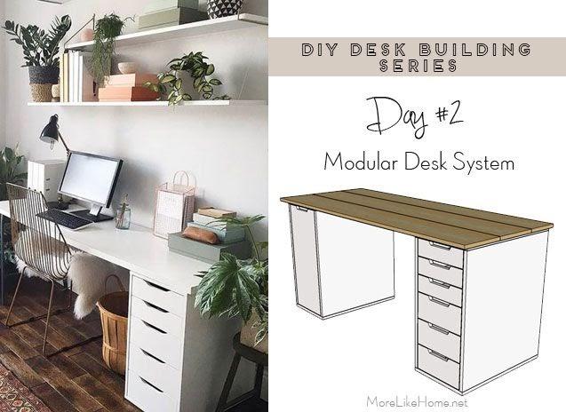 More Like Home Diy Desk Series 2 Modular Desk System