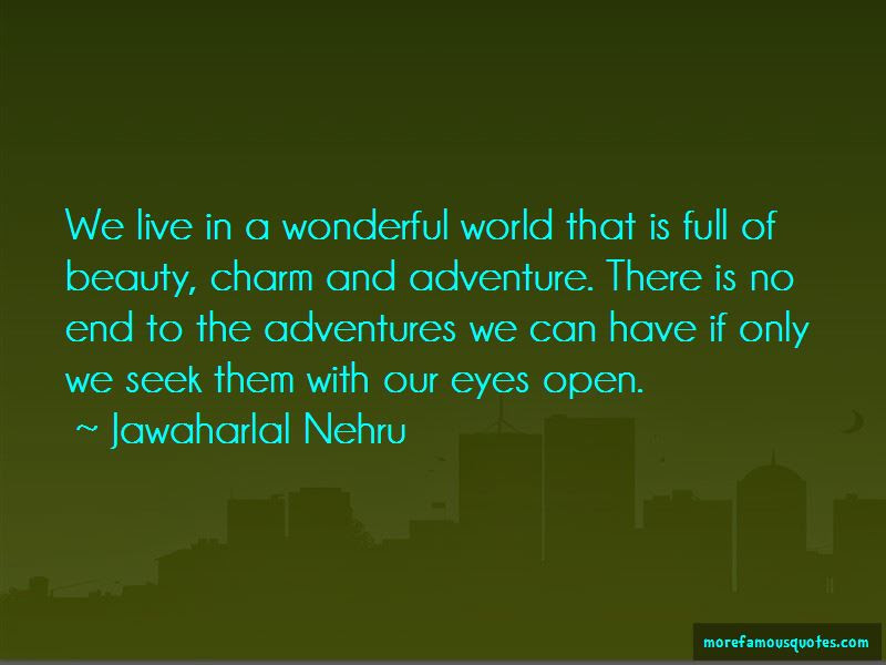 We Live In A Wonderful World Quotes Top 35 Quotes About We Live In