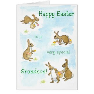 Easter Bunnies Card for a Grandson