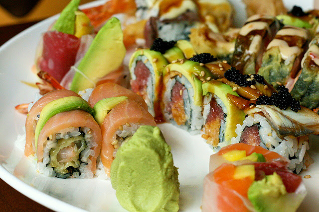 Monkey Roll (left) and Dragon Roll (right)