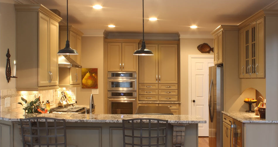 Richmond Maple Taupe Brushed Brown Glaze Compass Kitchens