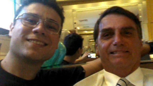 Smith Hays com Bolsonaro, que já encontrou algumas vezes e diz ser uma