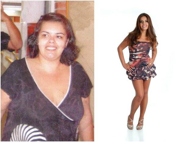 Aline passou dos 117 kg para 66 kg (Foto: Montagem sobre fotos/Arquivo pessoal)