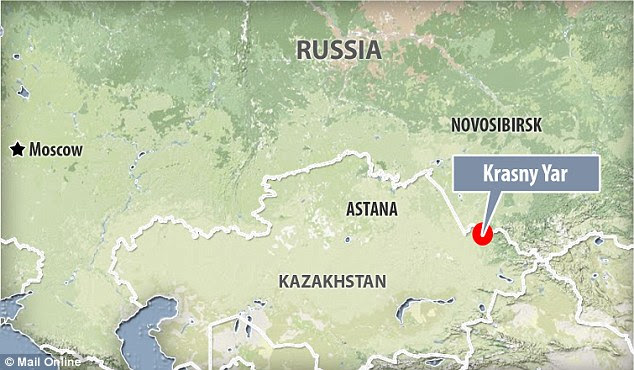 The burial mound was found in a field outside the village of Krasny Yar in the Altai Territory of southern Russia