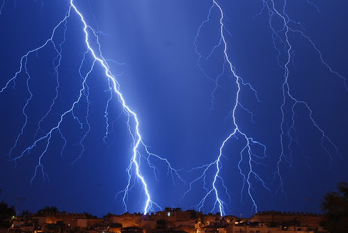 Thessaloniki lightning storm - Taken now