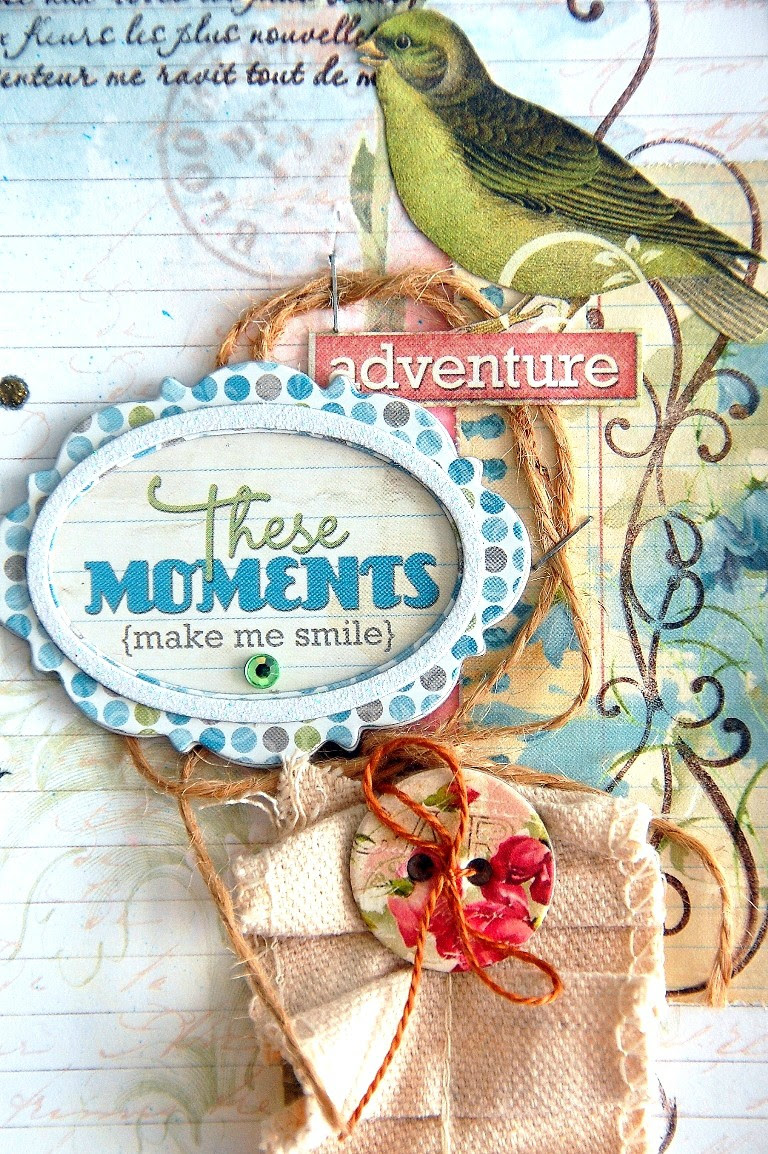These Moments Layout by Irene Tan Using BoBunny Garden Journal Collection