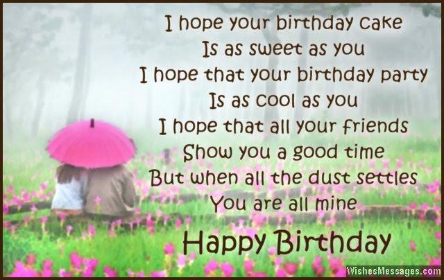 Birthday Poem for boyfriend