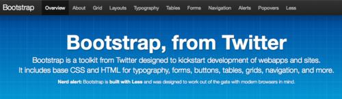 Bootstrap: Toolkit de componentes reutilizables creado por Twitter