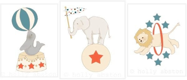 "Circus Friends ""Elephant"" Original Art Print"