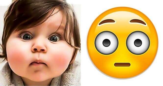 Imagens provando que os emoticons foram inspirados em crianças