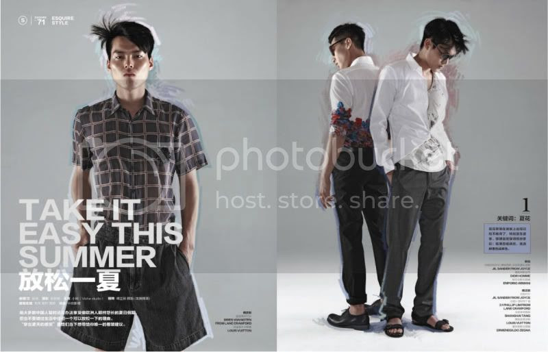 Esquire China August 2011 - Take It Easy This Summer @ StreetStylista.Homme