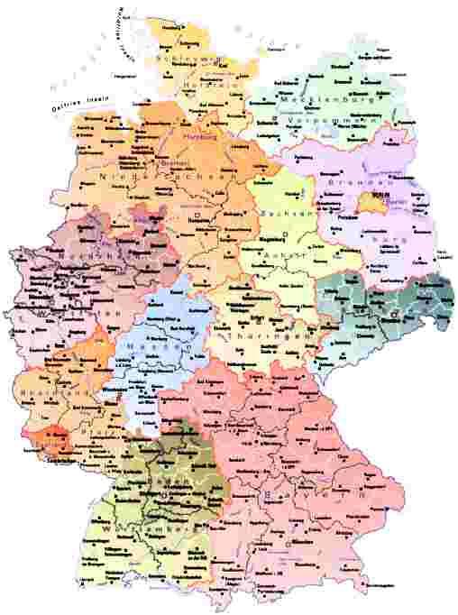 Karte Bundesländer.Bundesland Karte Karte