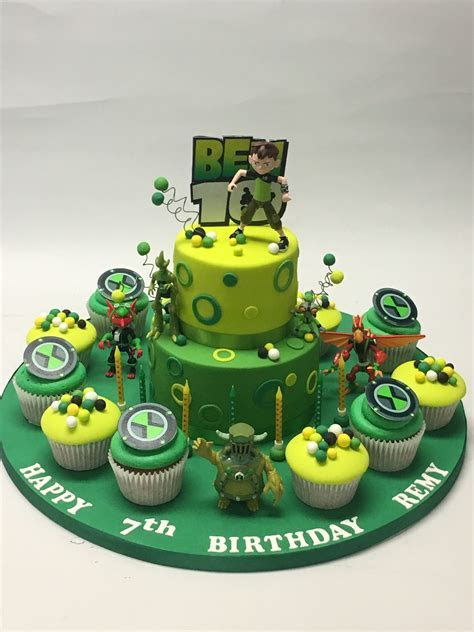 2 Tier Ben 10 Cake   Celebration Cakes   Cakeology