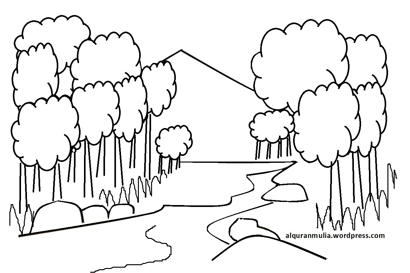 Sketsa Gambar Mewarnai Pemandangan Alam Auto Electrical Wiring Diagram