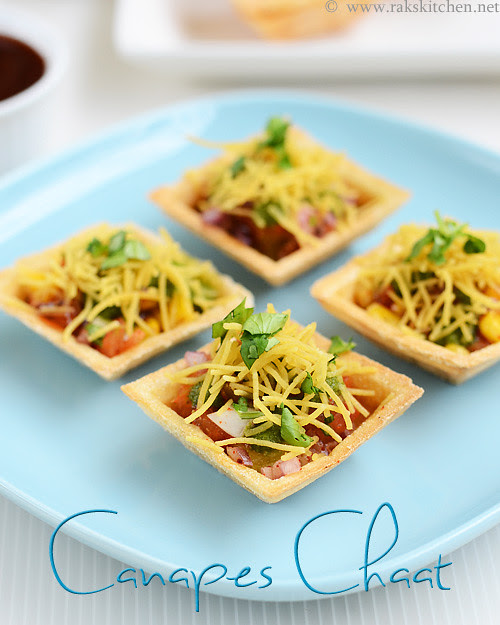 Canapes chaat canape chaat recipe raks kitchen canapes chaat canape chaat recipe forumfinder Choice Image