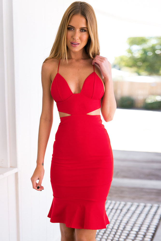 Women Round Neck Plain Bodycon Dress chicago outfits with