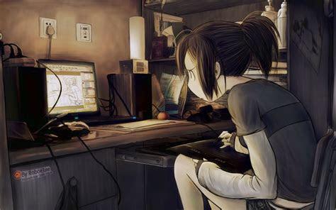 original tablet computer drawing girl art anime wallpaper