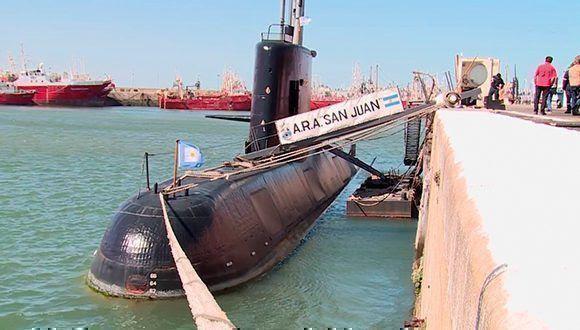 El submarino ARA San Juan. Foto: Armada Argentina.