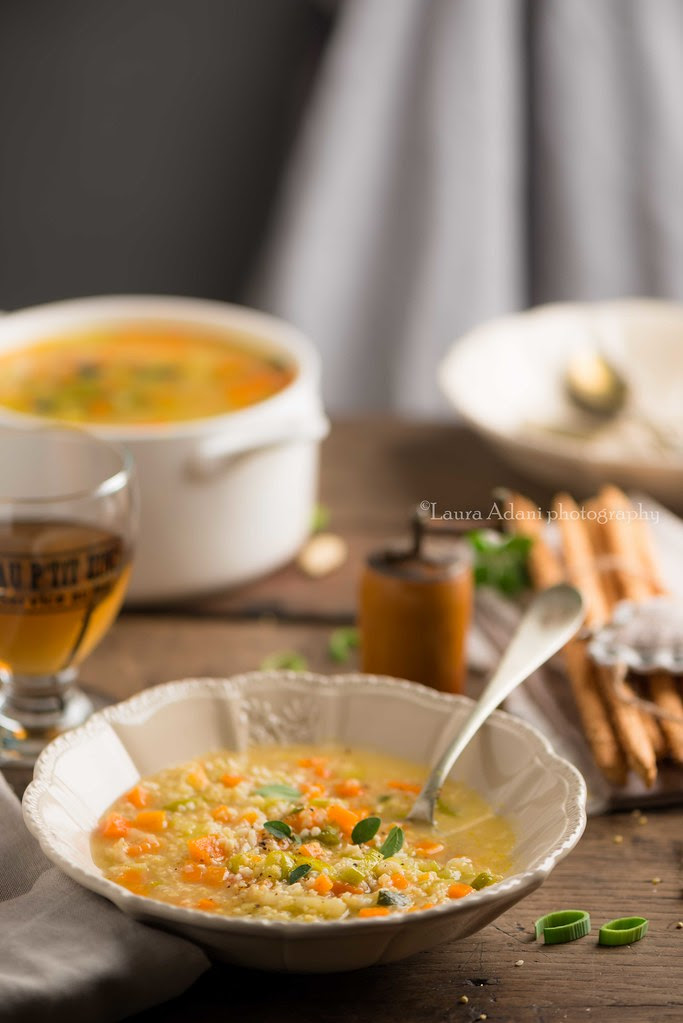 veggy soup millet and almond