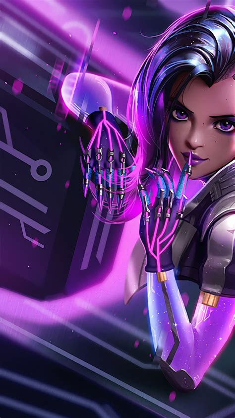 wallpaper sombra overwatch  games