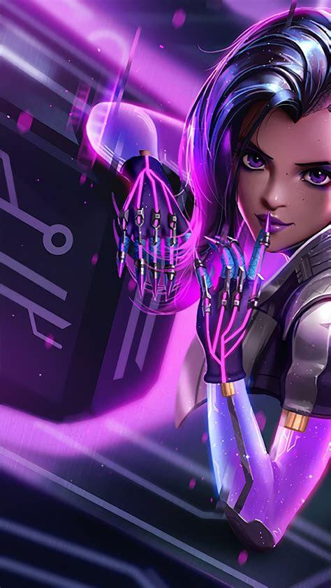 wallpaper sombra overwatch  games
