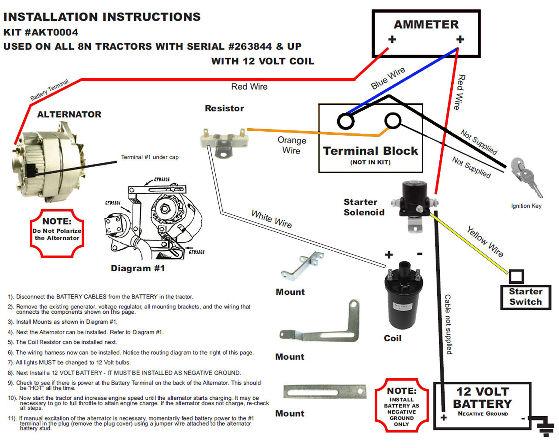 Diagram 12 Volt Wiring Diagram Ford 8n Tractor 1 Wire Alternator Full Version Hd Quality Wire Alternator Yourdiagrams Hommevetements Fr