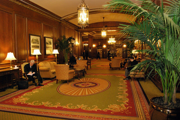 Lobby at the Omni Parker House in Boston