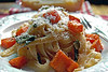 Linguine with a sage burnt butter sauce and sautéed Sweet Potato by Haalo - Entry II