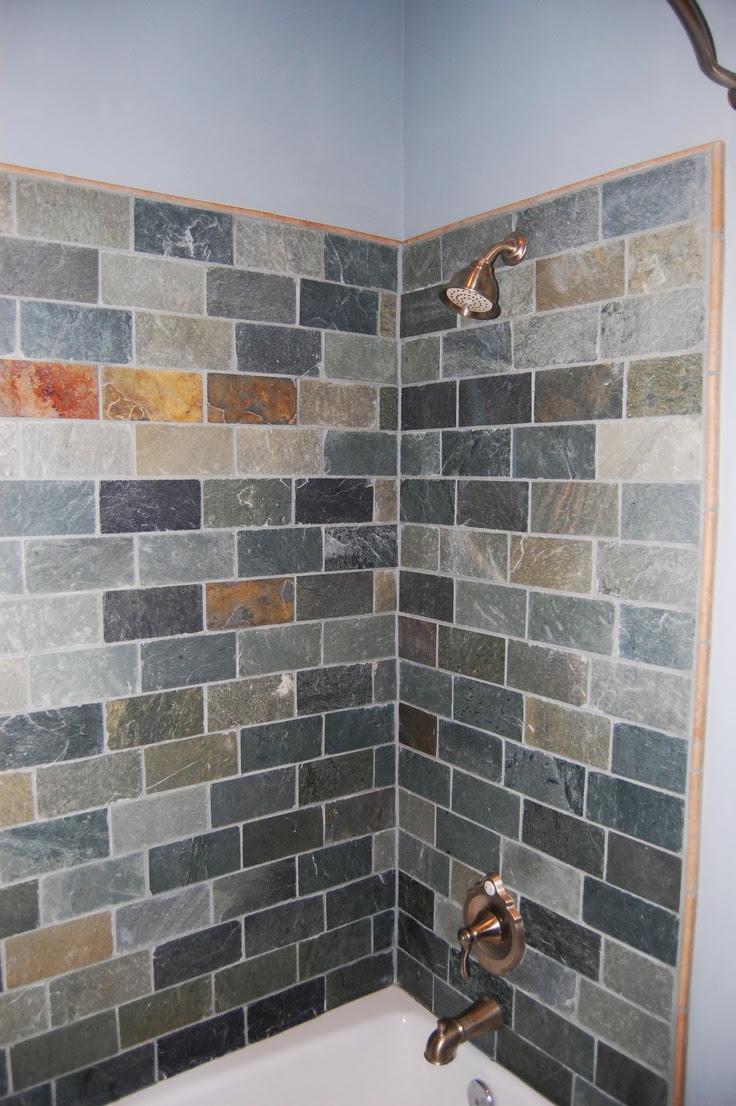 Slate Tile - Bathroom   Bathroom slate ideas   Pinterest