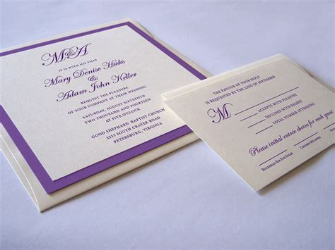 Lavish Square Wedding Invitation   White Tie Designs