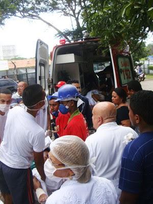 Pacientes foram transferidos para o Hospital Geral e unidades das UPAs (Foto: Igor Almeida/G1)