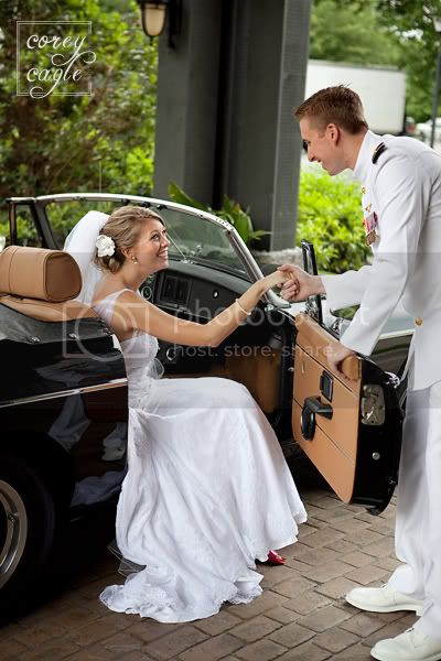 classic car for wedding at Biltmore