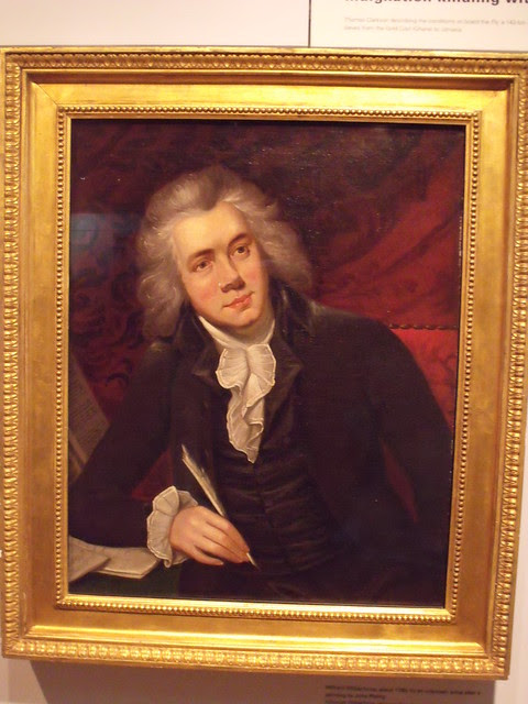 Museum of London Docklands: portrait of William Wilberforce, whose Christian faith prompted him to successfully campaign against slavery
