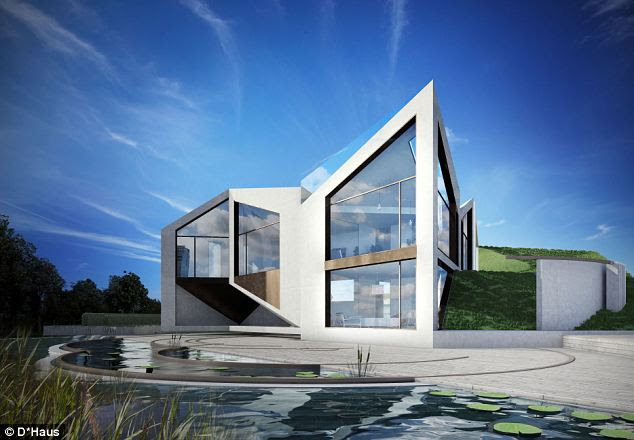 Autobots, transform! This computer generated graphic shows the incredible concept for a house that can 'metamorphosize' into eight different configurations depending on the weather