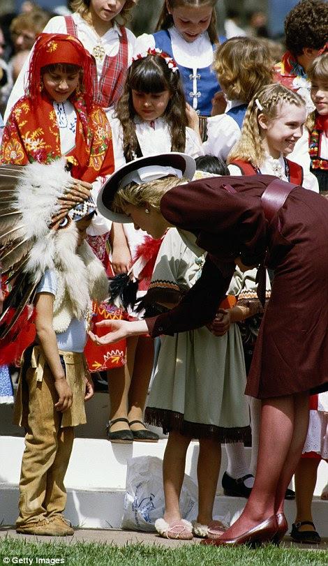 Diana in Kelowna in 1986