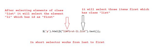 jQuery selectors executed