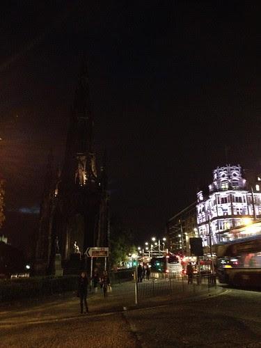 Scott Monument At Night
