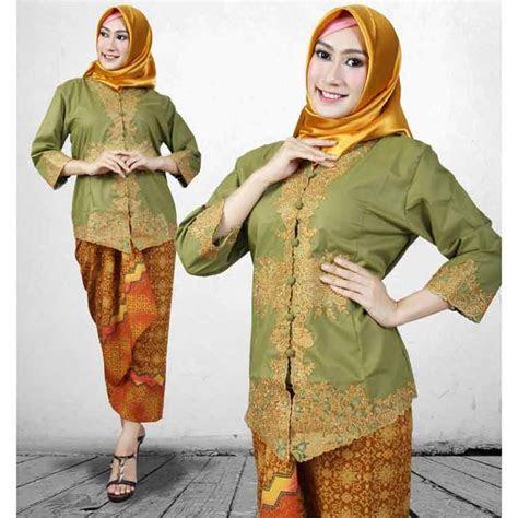 model kebaya encim modern betawi hijab terbaru