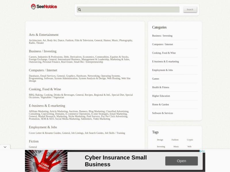SeeNotice Marketplace
