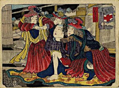 Kuniyoshi shunga. A Japanese shunga print.. © Copyright 1998-2014