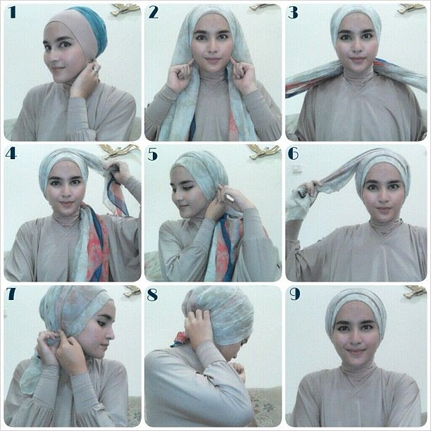 Turban tutorial  Hijab Love  Pinterest