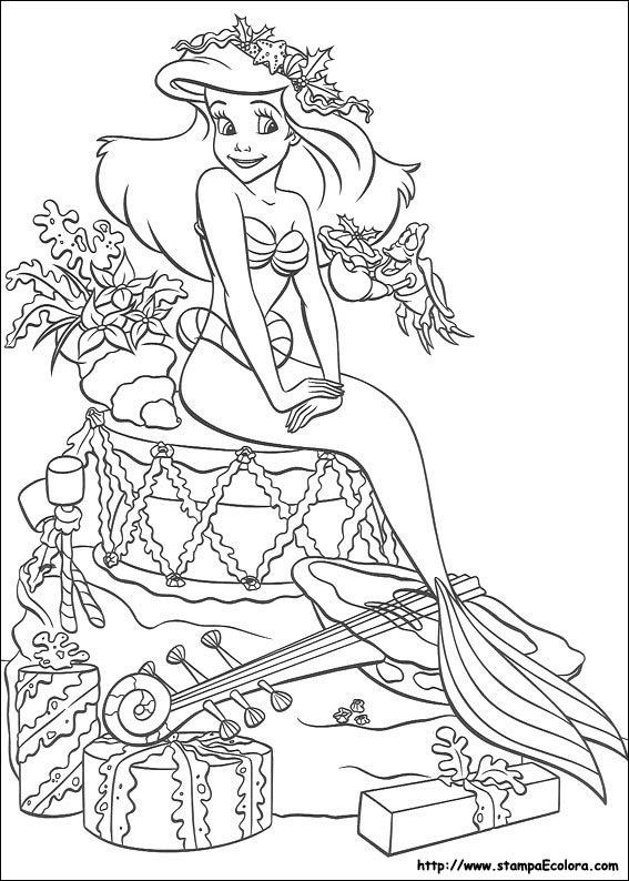 Disegni Di Ariel Da Colorare E Stampare Coloradisegni