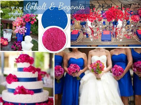 Wedding Color Trends: Blue and Pink. Royal blue and hot